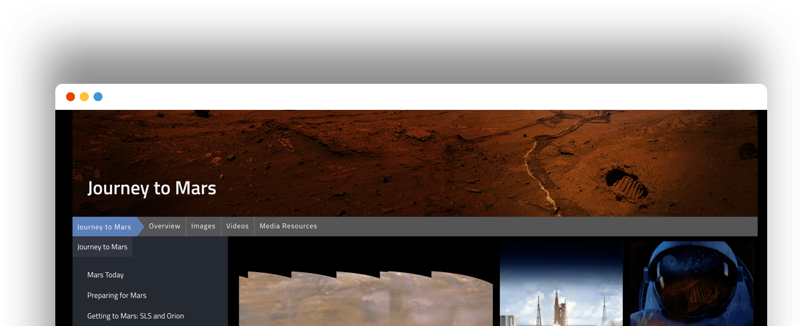 nasa-website-browser